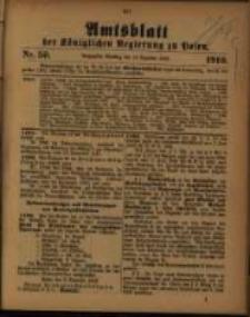 Amtsblatt der Königlichen Regierung zu Posen. 1910.12.13 Nro.50