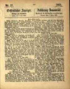 Oeffentlicher Anzeiger. 1868.07.07 Nro.27