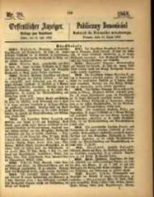 Oeffentlicher Anzeiger. 1868.07.14 Nro.28