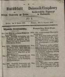 Amtsblatt der Königlichen Regierung zu Posen. 1835.01.06 Nro.1