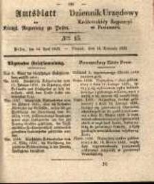 Amtsblatt der Königlichen Regierung zu Posen. 1835.04.14 Nro.15