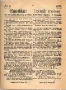 Amtsblatt der Königlichen Regierung zu Posen. 1873.01.23 Nro.4