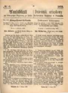 Amtsblatt der Königlichen Regierung zu Posen. 1873.02.06 Nro.6