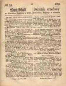 Amtsblatt der Königlichen Regierung zu Posen. 1873.04.03 Nro.14