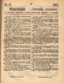 Amtsblatt der Königlichen Regierung zu Posen. 1873.05.22 Nro.21