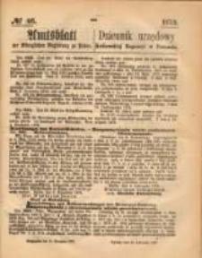 Amtsblatt der Königlichen Regierung zu Posen. 1873.11.13 Nro.46
