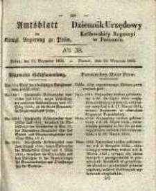 Amtsblatt der Königlichen Regierung zu Posen.1834.09.23 Nro.38