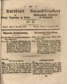 Amtsblatt der Königlichen Regierung zu Posen.1834.11.25 Nro.47