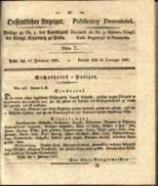 Oeffentlicher Anzeiger. 1827.02.13 Nro.7