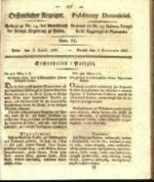 Oeffentlicher Anzeiger. 1827.04.03 Nro.14