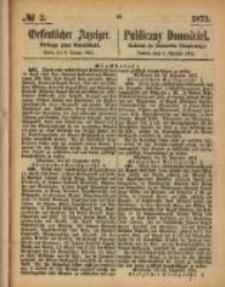 Oeffentlicher Anzeiger. 1873.01.09 Nro.2