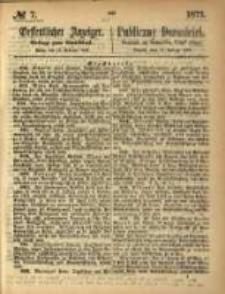 Oeffentlicher Anzeiger. 1873.02.13 Nro.7