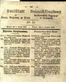 Amtsblatt der Königlichen Regierung zu Posen. 1835.08.04 Nro.31