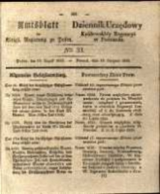 Amtsblatt der Königlichen Regierung zu Posen. 1835.08.18 Nro.33