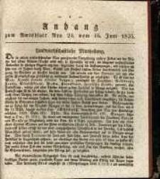 Anhang zum Amtsblatts Nro. 24. Vom 16. Juni 1835.