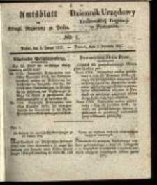 Amtsblatt der Königlichen Regierung zu Posen. 1837.01.03 Nro.1