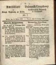 Amtsblatt der Königlichen Regierung zu Posen. 1837.02.14 Nro.7