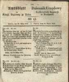 Amtsblatt der Königlichen Regierung zu Posen. 1837.03.28 Nro.13