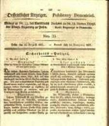 Oeffentlicher Anzeiger. 1827.08.14 Nro.33