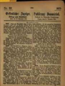 Oeffentlicher Anzeiger. 1875.09.29 Nro.39