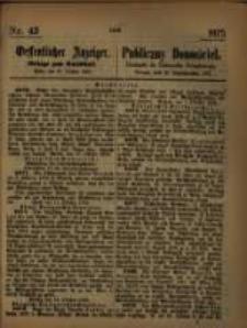 Oeffentlicher Anzeiger. 1875.10.27 Nro.43