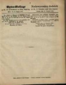 Extra=Beilage zu Nr. 34 des Amtsblattes der Königl. Regierung. Posen, den 20. August 1874
