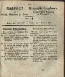 Amtsblatt der Königlichen Regierung zu Posen. 1837.04.04 Nro.14