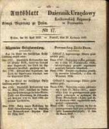 Amtsblatt der Königlichen Regierung zu Posen. 1837.04.25 Nro.17