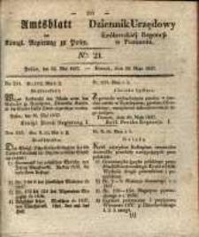 Amtsblatt der Königlichen Regierung zu Posen. 1837.05.23 Nro.21