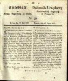 Amtsblatt der Königlichen Regierung zu Posen. 1837.07.18 Nro.29