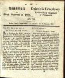 Amtsblatt der Königlichen Regierung zu Posen. 1837.08.01 Nro.31