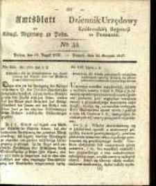 Amtsblatt der Königlichen Regierung zu Posen. 1837.08.15 Nro.33