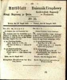 Amtsblatt der Königlichen Regierung zu Posen. 1837.08.29 Nro.35