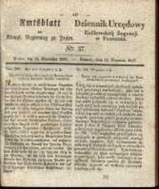 Amtsblatt der Königlichen Regierung zu Posen. 1837.09.12 Nro.37