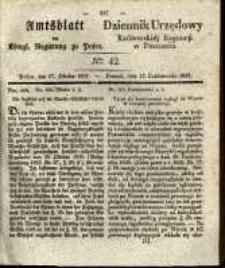 Amtsblatt der Königlichen Regierung zu Posen. 1837.10.17 Nro.42
