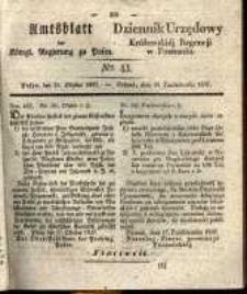 Amtsblatt der Königlichen Regierung zu Posen. 1837.10.24 Nro.43