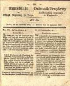 Amtsblatt der Königlichen Regierung zu Posen. 1837.11.14 Nro.46