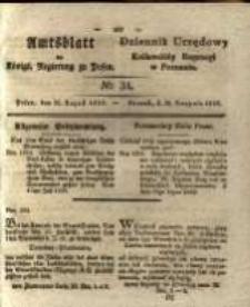 Amtsblatt der Königlichen Regierung zu Posen. 1829.08.25 Nro.34