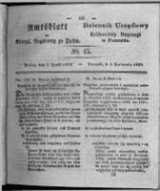 Amtsblatt der Königlichen Regierung zu Posen. 1828.04.08 Nro.15