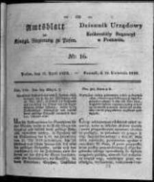 Amtsblatt der Königlichen Regierung zu Posen. 1828.04.15 Nro.16