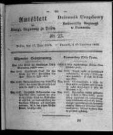 Amtsblatt der Königlichen Regierung zu Posen. 1828.06.17 Nro. 25