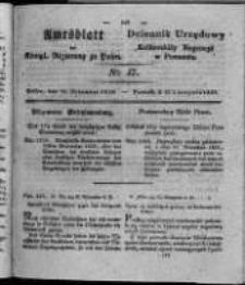 Amtsblatt der Königlichen Regierung zu Posen. 1828.11.18 Nro. 47