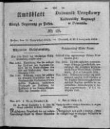 Amtsblatt der Königlichen Regierung zu Posen. 1828.11.25 Nro. 48