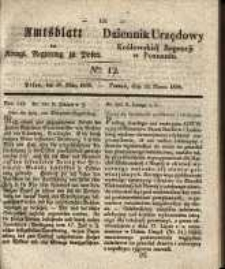Amtsblatt der Königlichen Regierung zu Posen. 1838.03.20 Nro.12