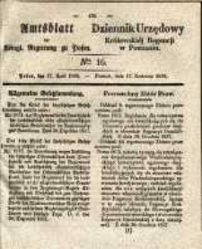 Amtsblatt der Königlichen Regierung zu Posen. 1838.04.17 Nro.16