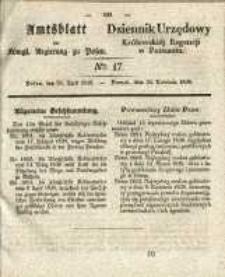 Amtsblatt der Königlichen Regierung zu Posen. 1838.04.24 Nro.17