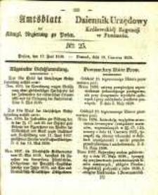 Amtsblatt der Königlichen Regierung zu Posen. 1838.06.19 Nro.25