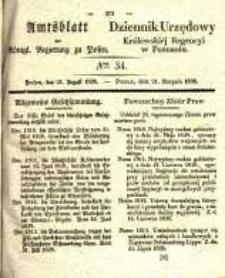 Amtsblatt der Königlichen Regierung zu Posen. 1838.08.21 Nro.34
