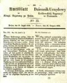 Amtsblatt der Königlichen Regierung zu Posen. 1838.08.28 Nro.35