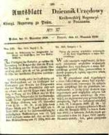 Amtsblatt der Königlichen Regierung zu Posen. 1838.09.11 Nro.37